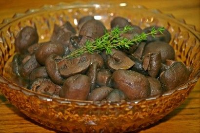 Vegetarian Burgundy Mushrooms | I subbed 1.5 T of Worcestershire sauce ...