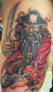 Blackbeard pirate ship tattoo - photo#4