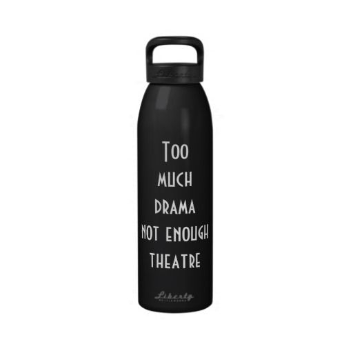 Theatre themed water bottle