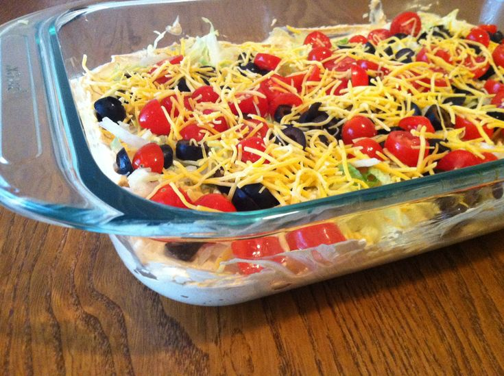 Skinny Taco Dip -- I love 7-layer taco dip and this has greatly ...