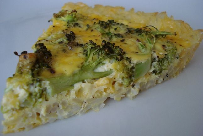 Broccoli And Cheddar Quiche With A Brown Rice Crust Recipes ...