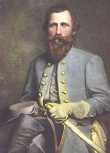 "Confederate Army General James E. B. ""Jeb"" Stuart."