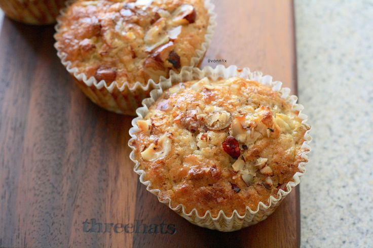 Pear and Hazelnut Protein Muffins – Fiterazzi Note to self: sub ...