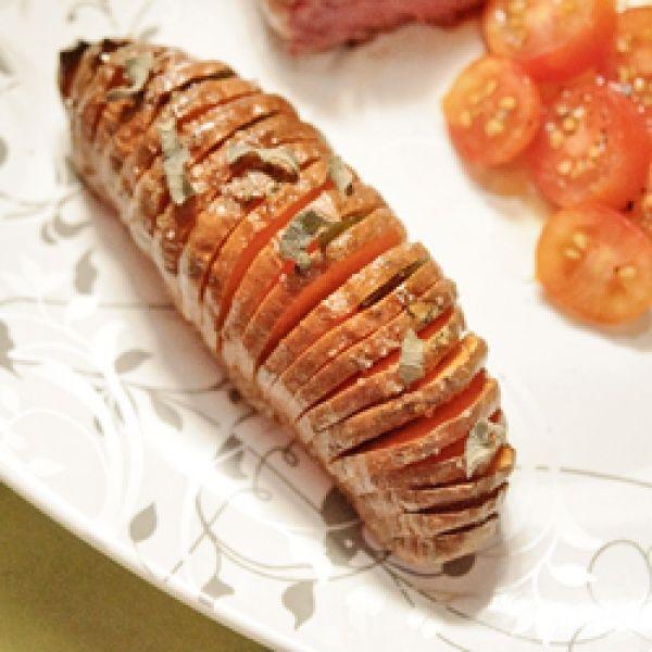 Hasselback Sweet Potato | foooood | Pinterest