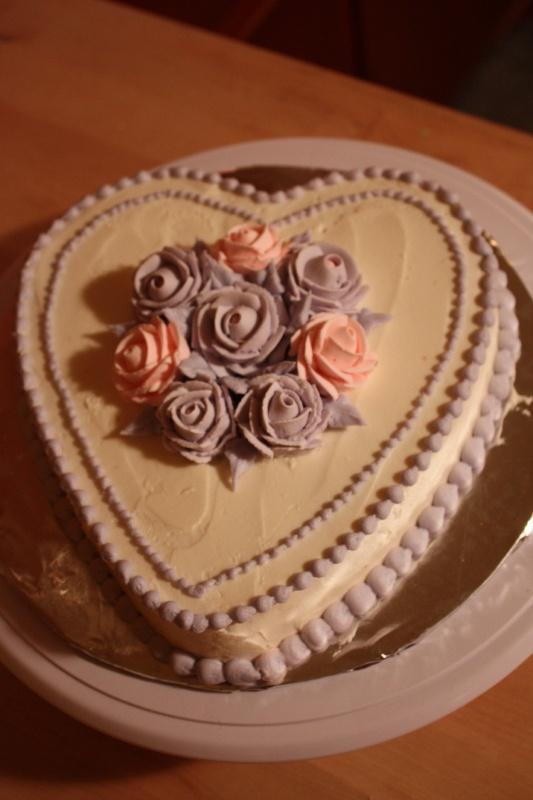red valentine cake