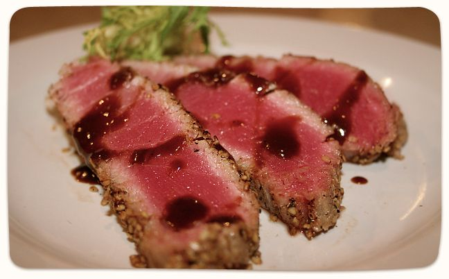 Seared Ahi Tuna. Makes me wish I were in Myrtle Beach, South Carolina ...