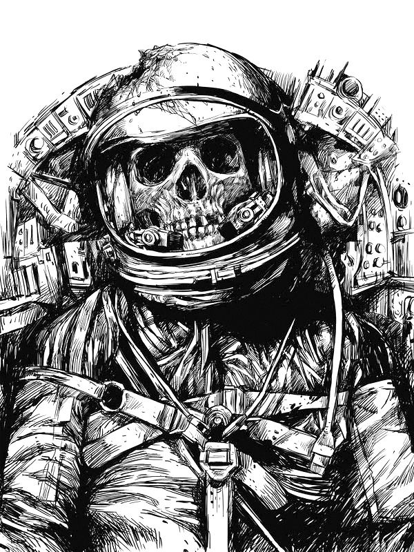 Astronaut Drawing Tumblr Skeleton astronaut  black andAstronaut Helmet Drawing