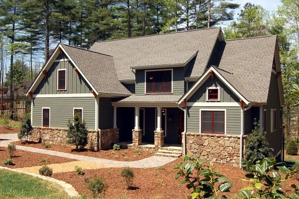 Craftsman style home in biltmore lake nc new build Craftsman lake house