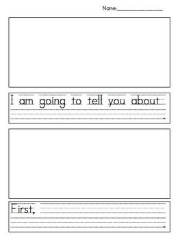 This is a great organizer for 1st grade writing.