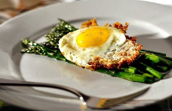 asparagus with bread crumb-fried eggs. | Our Favorite Recipes | Pinte ...