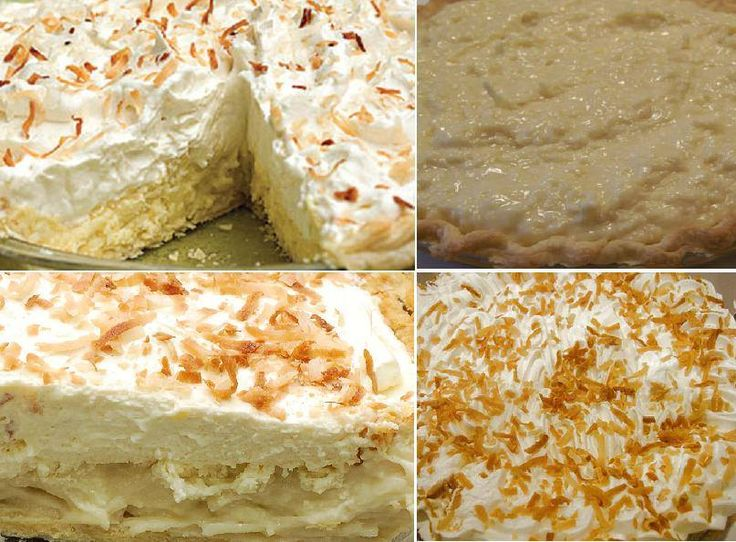 Old Fashioned Coconut Cream Pie | Recipes and Favorite Foods | Pinter ...