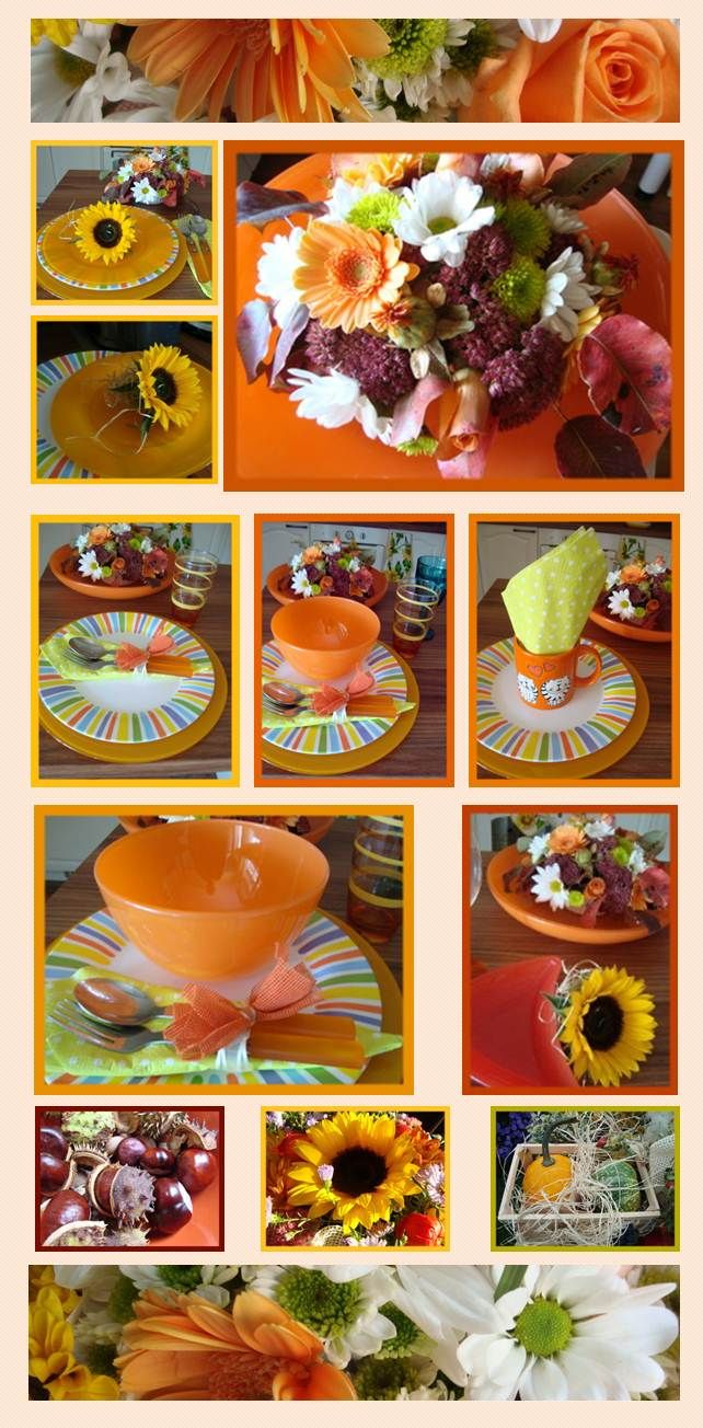 decoration de table dautomne  decoration de table  Pinterest