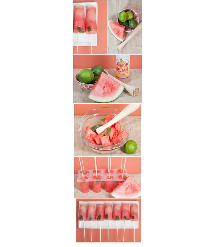 Watermelon mojito pops! Mojito Popsicles Ingredients (makes about 10 ...