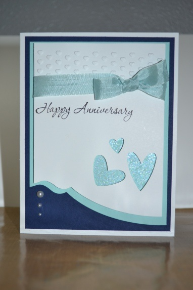 Anniversary card stampin up paper crafts pinterest