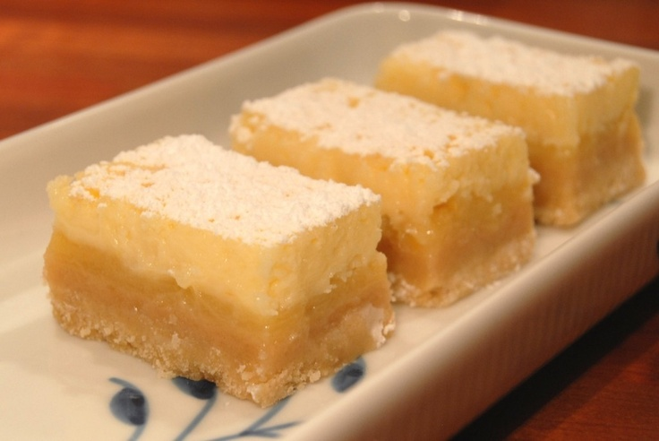 Zesty lemon bars with cheesecake topping | Recipe