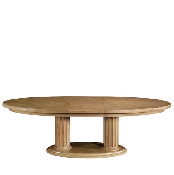 dining table bernhardt double pedestal dining table