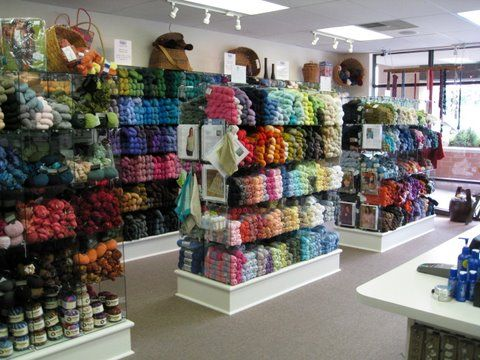 Crocheting Yarn Shop : yarn in a basket yarn shop - I like the way the displays are raised up ...