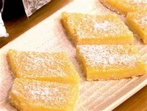 Reduced-fat lemon squares | Recipe