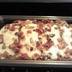 Bacon Mushroom Swiss Meatloaf (Allrecipes.com)
