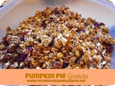 To the Moon and Back: Pumpkin Pie Granola