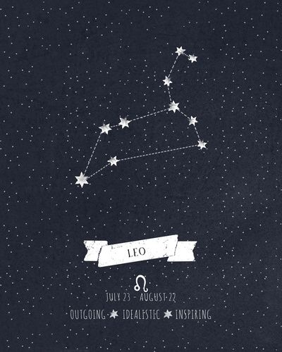 Leo Constellation Print Art By Angelina Perdomo