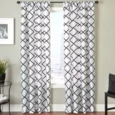 trellis curtain design jc penny emerald green bedroom pinterest