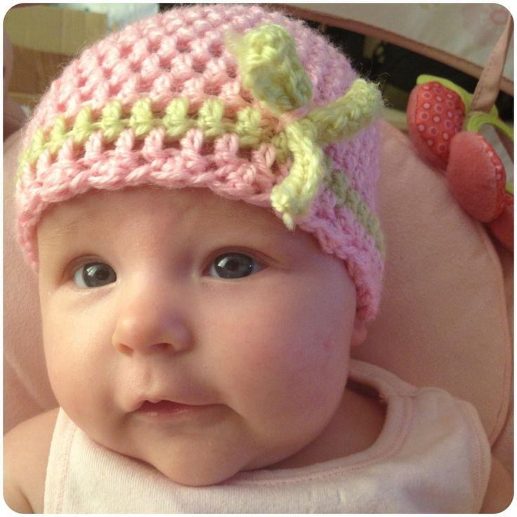 Super easy double crochet baby hat Mary Colleen Pinterest