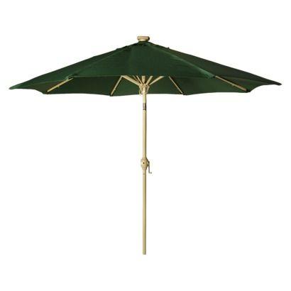 solar lighted patio umbrella beige 9 39. Black Bedroom Furniture Sets. Home Design Ideas