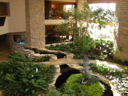 Indoor koi pond and island the outdoors comes in pinterest for Indoor koi pond