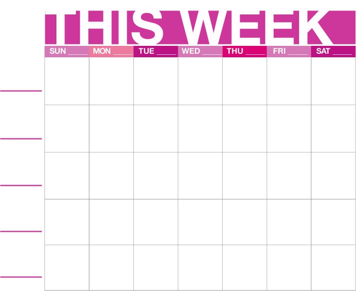 Weekly Family Calendar | Everything in Order | Pinterest