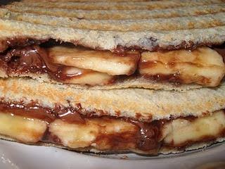 Nutella and Banana Panini | Yummy Goodness | Pinterest
