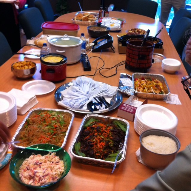 Office diversity pot luck lunch. Some of our gents are great cooks ...