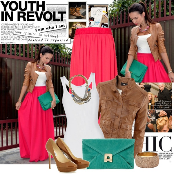 Bright Maxi Skirt and turquoise. Love love love