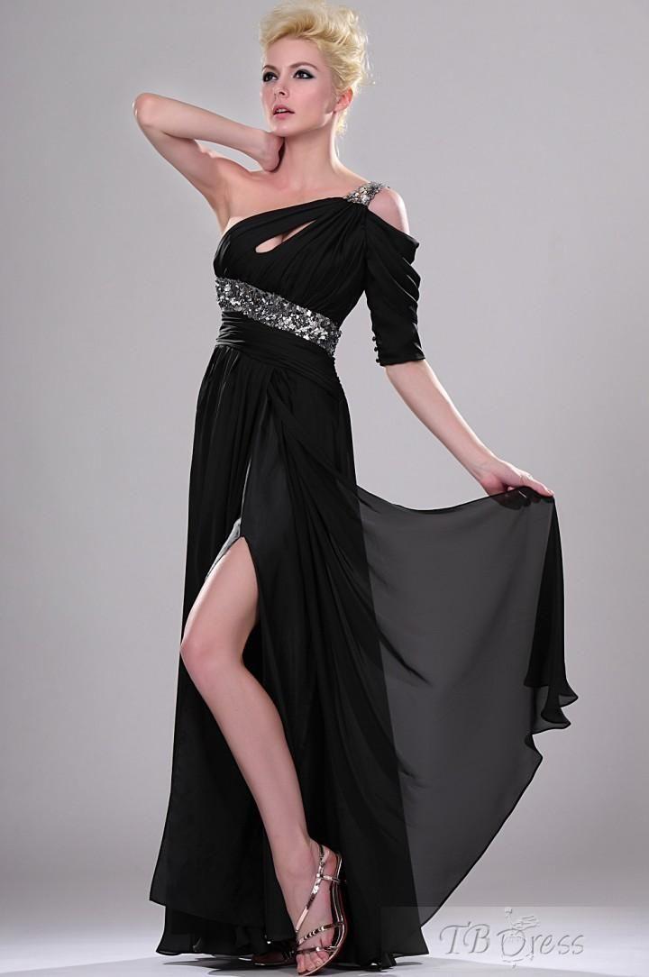 Pretty A-Line Floor-Length One Shoulder Neckline Evening/Event Dresses  $124.19