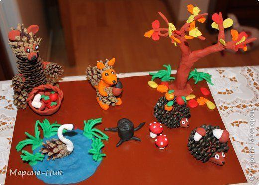 Поделки из пластилина в детский сад на тему осень 15