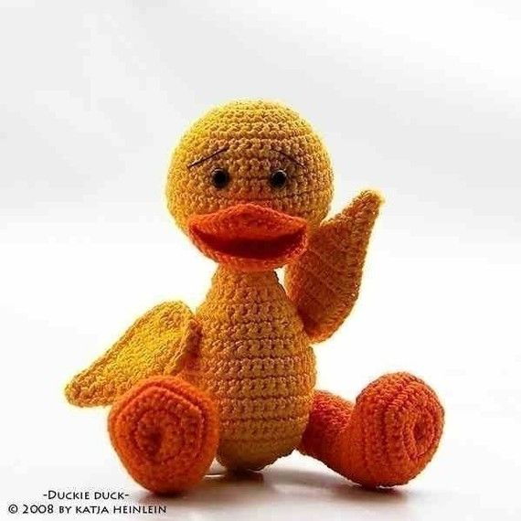 Duckie Duck, crochet pattern, PDF tutorial