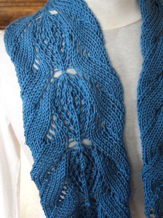 Hand Knitting Patterns : Dahlia PDF Hand Knitting Scarf Pattern by KnitChicGrace on Etsy