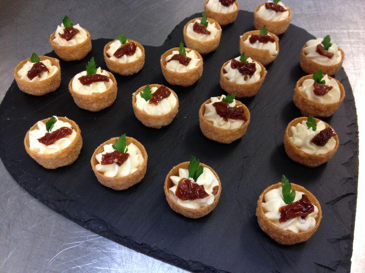 Goats cheese mousse croustade canapés | Food | Pinterest