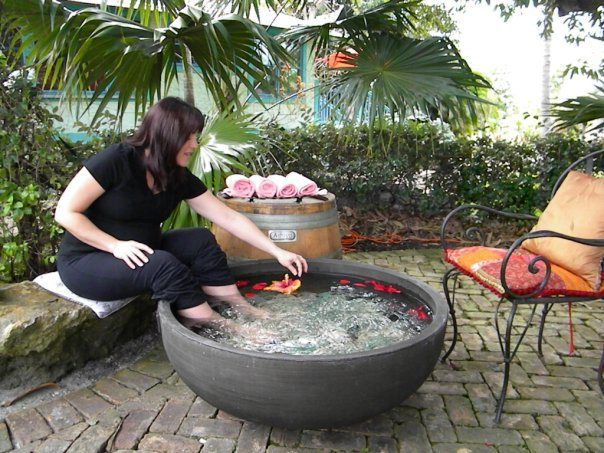 The Red Tent Healing Arts Center in Boca Raton, FL features a foot spa