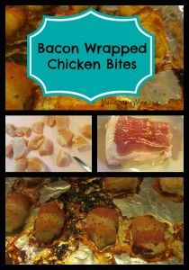 ... makes everything better- especially these bacon wrapped chicken bites