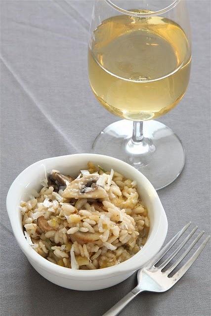 mushroom and leek risotto...dinner again? :D