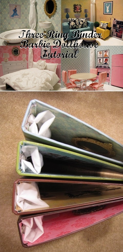 DIY Ring Binder Dollhouse Tutorial!!  Easy to pack up and take with you, too --