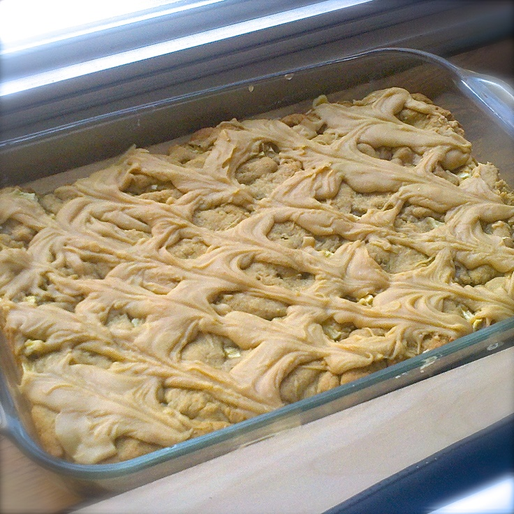 Peanut Butter Apple Bars | cake BATTER UP! | Pinterest