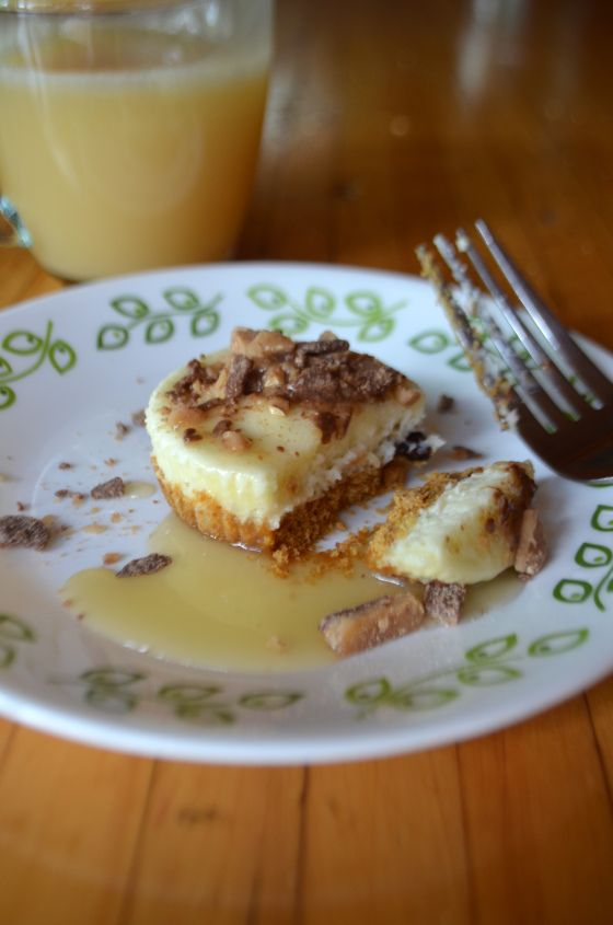 Mini Toffee and Caramel Cheesecakes | Dessert | Pinterest