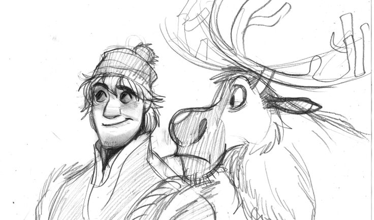 Kristoff and Sven sketch by meHow To Draw Kristoff From Frozen Easy