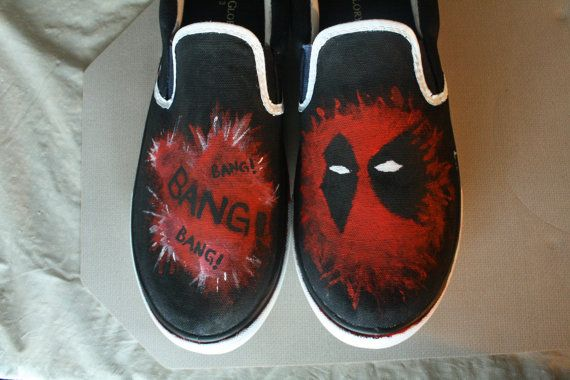 Deadpool Costume Shoes Marvel reebok shoes for geeks