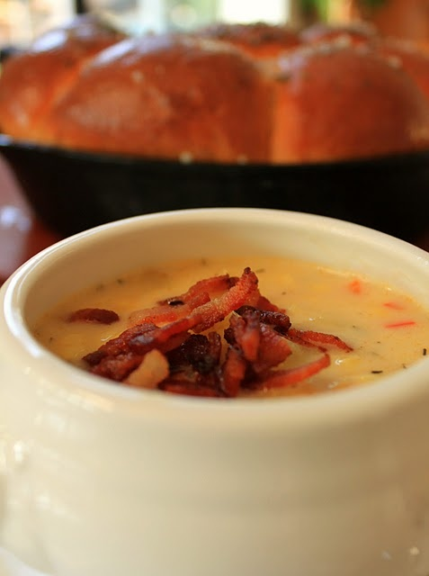 ... Buttered Rosemary & Sea Salt Skillet Rolls and Fresh Corn Chowder