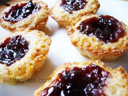thumbprint almond cookies | The Great Cookie Exchange | Pinterest