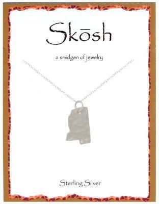 Engravables - Sterling Silver Mississippi Charm Necklace by Skosh, $36