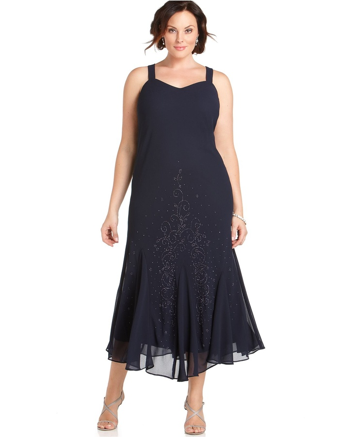 online buying of plus length dresses